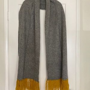 Grey and Mustard Scarf